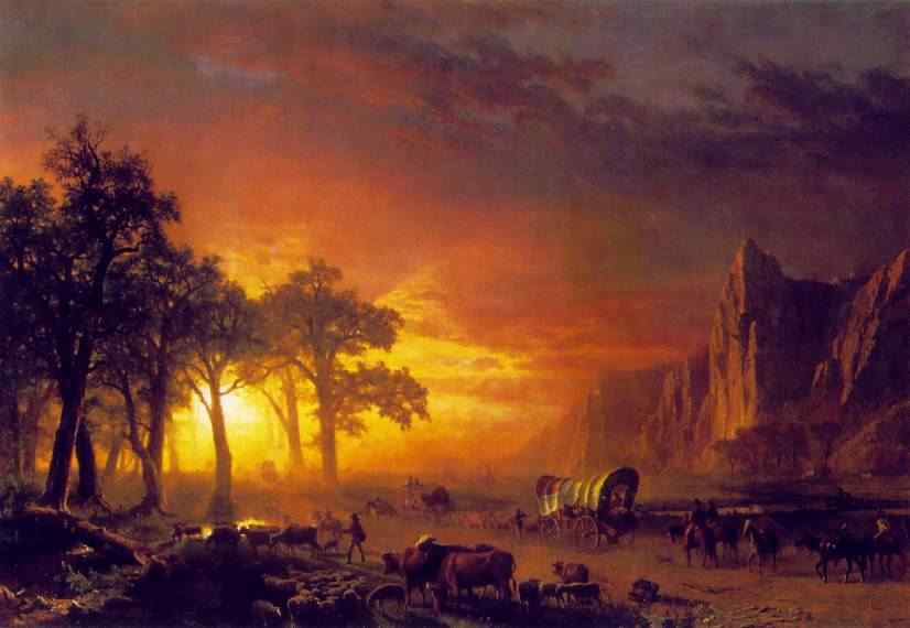 Immigrants Crossing the Prairie, Bierstadt
