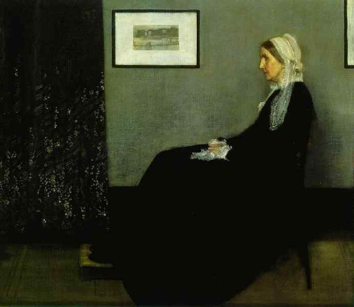Arrangement in Black--a Portrait of the Artist's Mother, Whistler